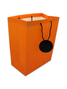 orange halloween gift bag with stickers