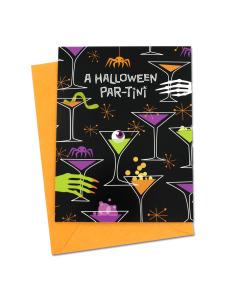 halloween par-tiny themed invites 10 pk.