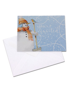 youre invited snowman invitations/envelopes