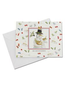 snowman 10 pack invitations/envelopes