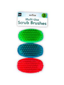 Pack of 3 scrub brushes