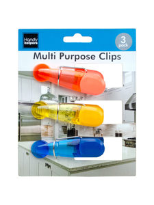 Set of 3 magnetic kitchen clips