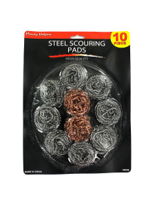 Steel scouring pads