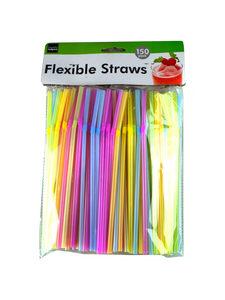 Neon party straws