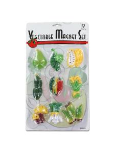 9 Pack vegetable magnet set