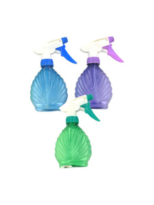 colored shell shaped spray bottle