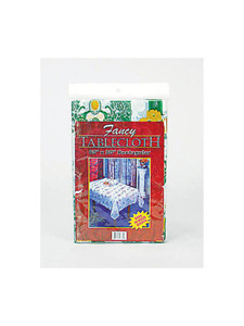 60 x 90 fancy rectangular tablecloth plastic