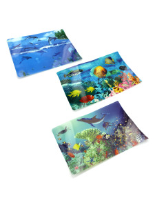 Bright butterfly plastic placemat