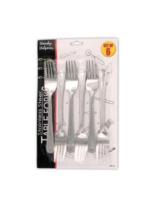 Stainless steel dinner forks (set of 6)