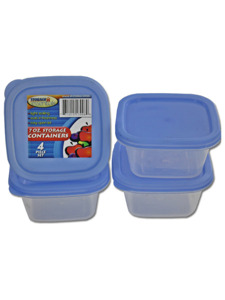 Square storage containers (set of 4)