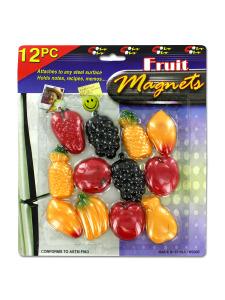 Set of assorted fruit magnets (set of 12)