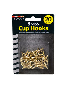 20 Pack brass cup hooks