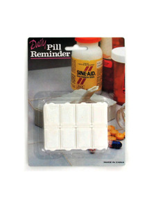 8 day pill reminder with braile