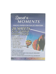 4 x 6 20 sheet glossy photo paper