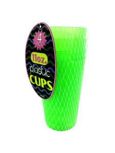Set of four plastic cups