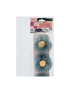 Stainless steel scrubbers with handle