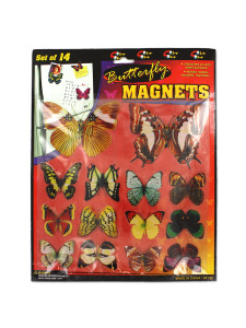 14 pc butterfly magnets
