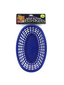 Oval food basket