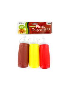 Picnic condiment dispensers