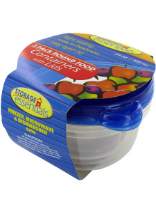 Round food containers with lid