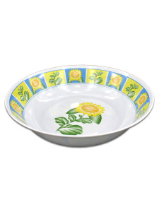 Bowl with sunflower design