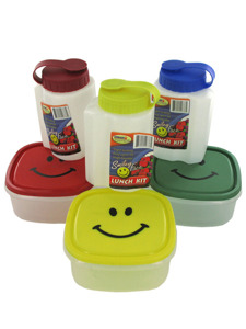 Happy face lunch kit