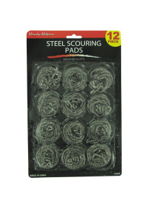 Steel scouring pads (set of 12)