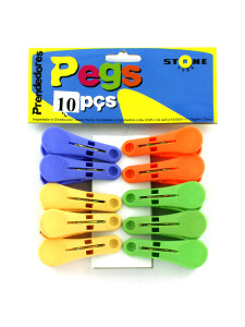 10 Pack clothes pegs