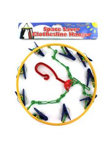 Space saver clothesline hanger