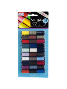 30 pc. sewing thread, assorted colors