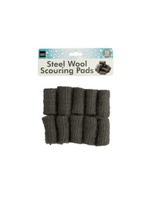 10 Pack steel wool pads