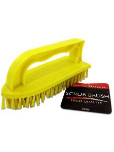 Scrub brush with handle
