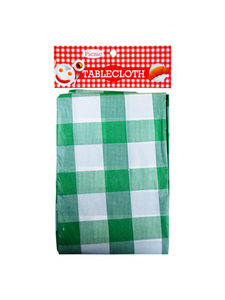 Durable plastic tablecloth