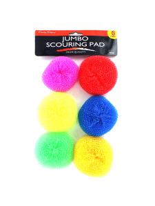 6pk jumbo scouring pads