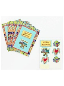 8 kwanza note cards with envelopes