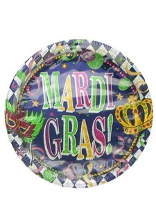 mardi gras 8 pack 6.75 inch plates
