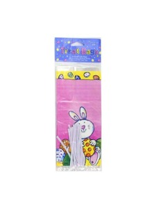 pink bunny 20 pack small treat bags w/twist ties
