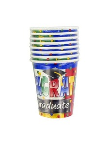 hot and cold cups 8 count 9oz colorful