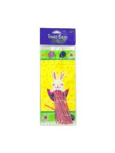 treat bags small 20 pk w/twist ties bunny surprise