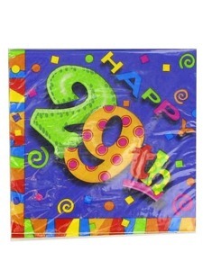 29th birthday party napkins 16pk.
