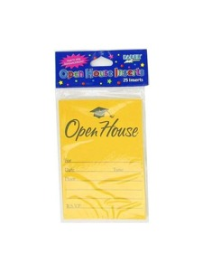 open house inserts 25 per pack yellow