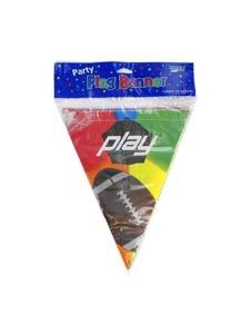 play football 12 ft flag banner