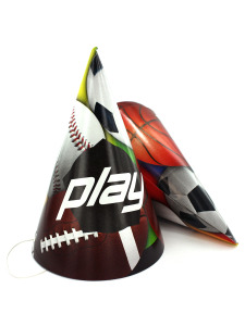 play sport 8 pack party hats