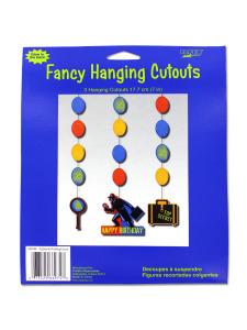 fancy hanging cutouts 3 hanging cutouts per pack 7 in l