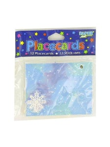 placecards 12 pk snowflake
