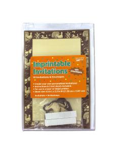 imprintable invites 8 1/2 in x 5 1/2 in 10 pk turkey