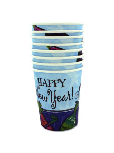 cups 8 pk 7 oz hot/cold new year