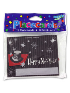 placecards 12 pk retro new year