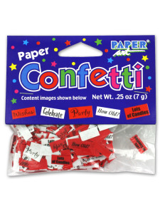 birthday paper confetti assorted sayings