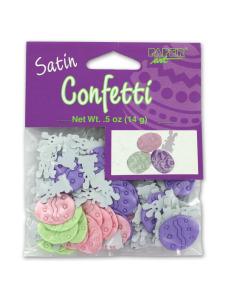 satin confetti pastel eggs